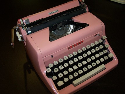 Typewriter Royal Pink